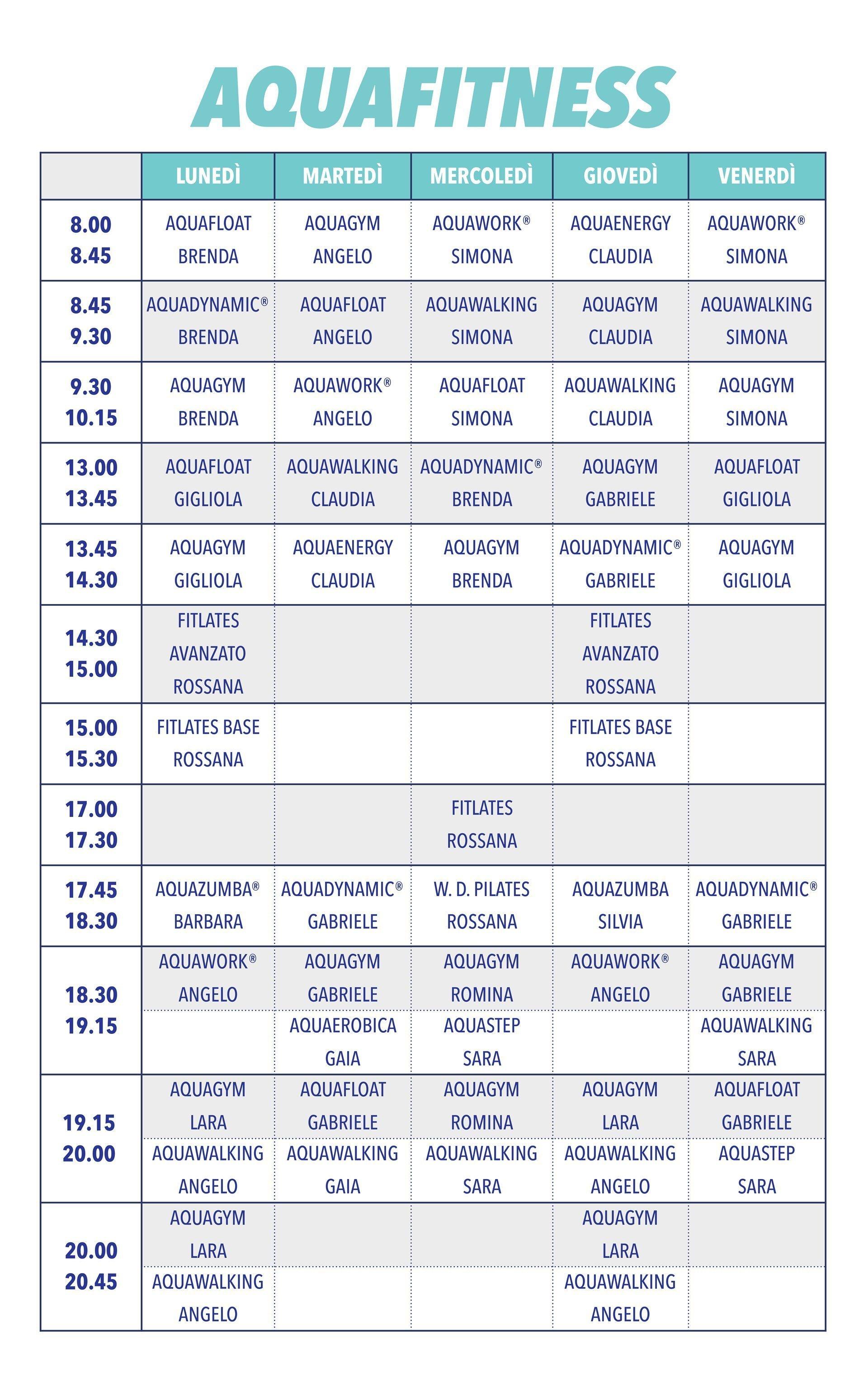 aquafitness orari 6-2019